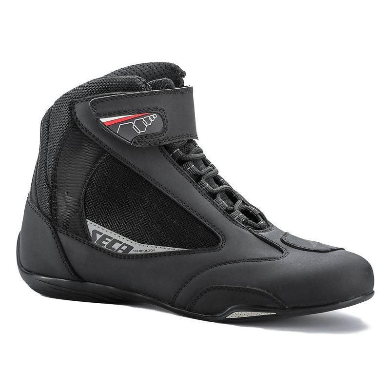 Nízké boty na motorku SECA Traffic ČERNÁ