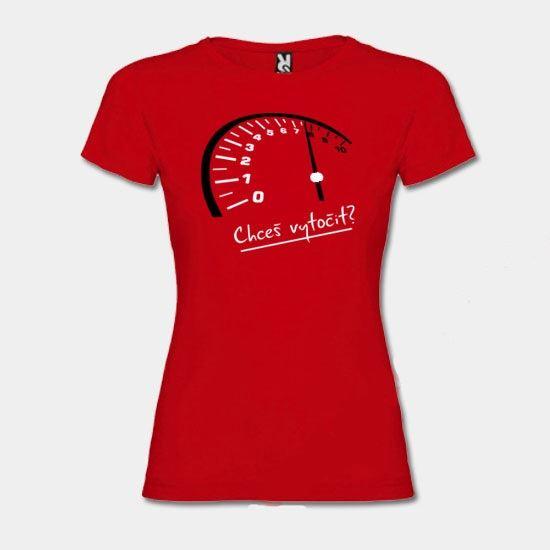 Dámské tričko ROCK BABY - Chceš vytočit?
